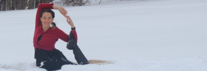kapotasana in the snow
